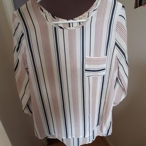 Red, white, and blue stripes shirt